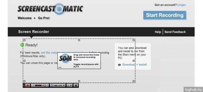 среда видеозахвата ScreenCast-O-Matic
